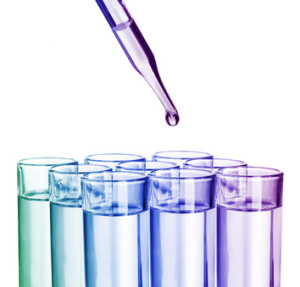 colorful chemical with pipette